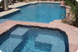 Two pool areas