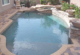 A spacious pool area