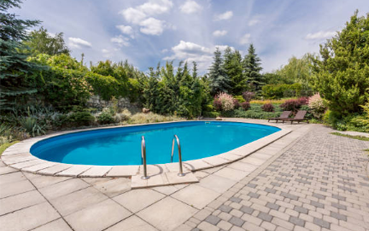 A residential pool area