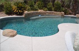 A swimming pool area