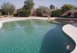 A large residential pool space